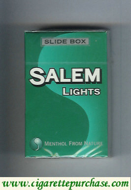 Discount Salem Lights Slide box cigarettes hard box