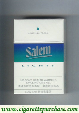 Discount Salem Lights with line Menthol Fresh cigarettes hard box