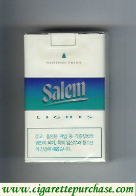 Discount Salem Lights with line Menthol Fresh cigarettes soft box