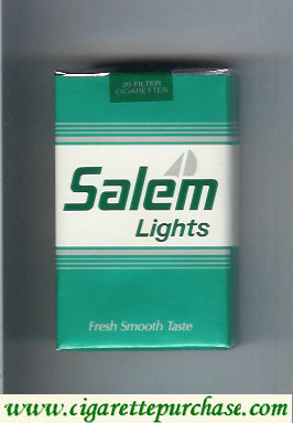 Salem Lights with yacht cigarettes soft box