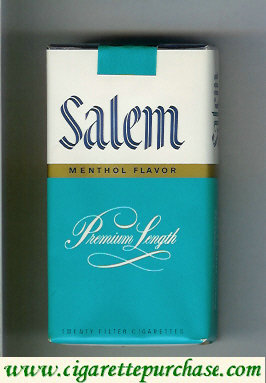 Discount Salem Menthol Flavor green white 100s cigarettes soft box