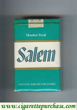 Discount Salem Menthol Fresh green and white and green cigarettes soft box