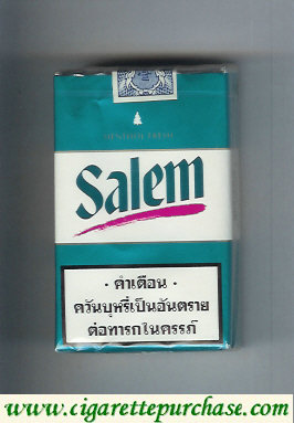 Salem Menthol Fresh with red line cigarettes soft box