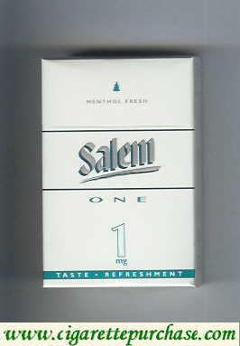 Discount Salem One 1 mg Menthol Fresh with line cigarettes hard box