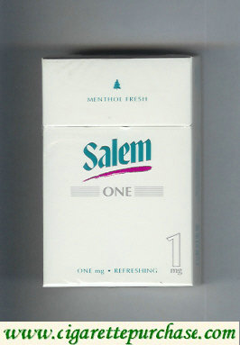 Discount Salem One 1 mg Menthol Fresh with red line cigarettes hard box