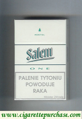 Discount Salem One Mentol with line cigarettes hard box