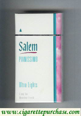 Discount Salem Pianissimo Ultra Lights Menthol Fresh 100s cigarettes hard box