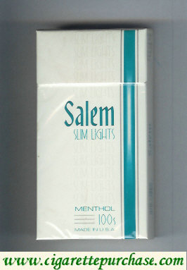 Discount Salem Slim Lights Menthol 100s cigarettes hard box