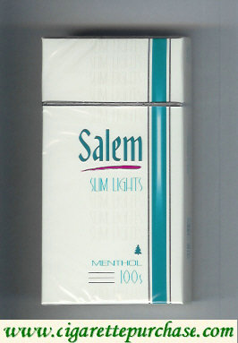 Discount Salem Slim Lights Menthol with red line 100s cigarettes hard box