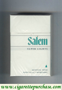 Discount Salem Super Lights Menthol Fresh cigarettes hard box