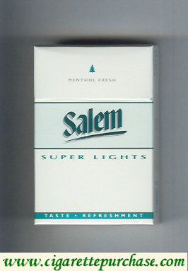 Discount Salem Super Lights Menthol Fresh with line cigarettes hard box