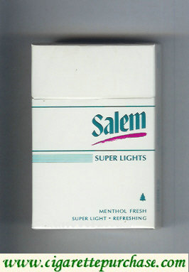 Discount Salem Super Lights Menthol Fresh with red line cigarettes hard box