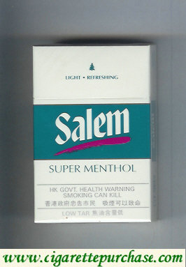 Discount Salem Super Menthol with red line cigarettes hard box
