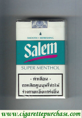 Discount Salem Super Menthol with red line cigarettes soft box