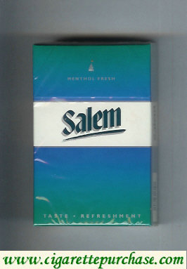 Discount Salem with line Menthol Fresh cigarettes hard box