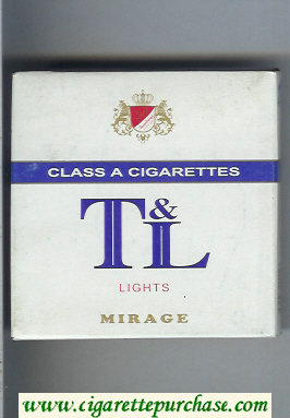 T and L Lights Mirage cigarettes wide flat hard box