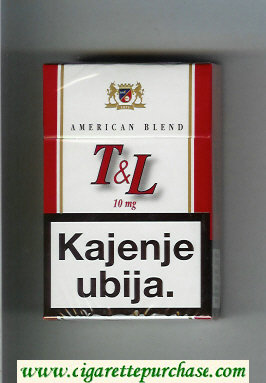 T and L American Blend 10 mg cigarettes hard box