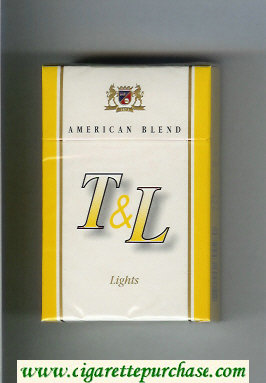 T and L American Blend Lights cigarettes hard box