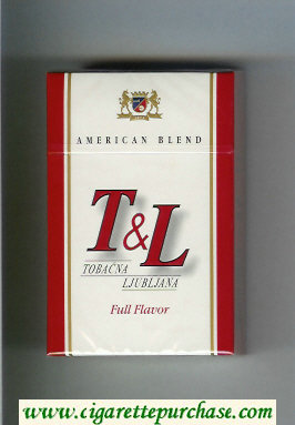 T and L Tobacna Ljubljna American Blend Full Flavor cigarettes hard box