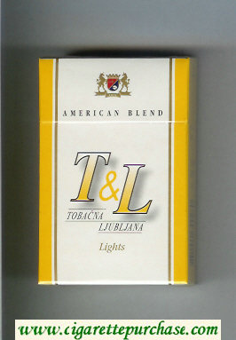 T and L Tobacna Ljubljna American Blend Lights cigarettes hard box