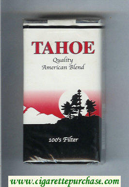 Tahoe Quality American Blend 100s Filter cigarettes soft box