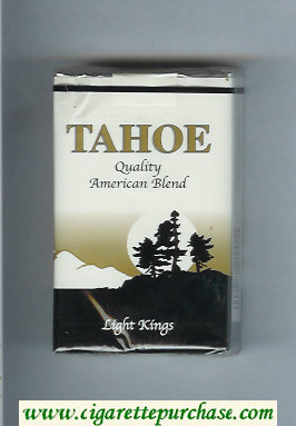 Tahoe Quality American Blend Light Kings cigarettes soft box
