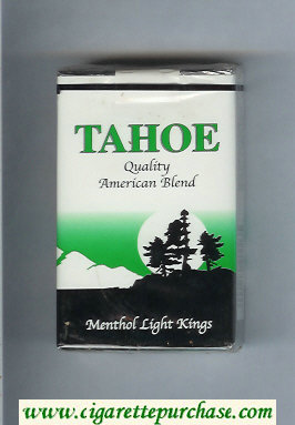 Tahoe Quality American Blend Menthol Light Kings cigarettes soft box