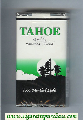 Tahoe Quality American Blend 100s Menthol Light cigarettes soft box