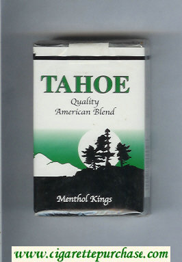 Tahoe Quality American Blend Menthol Kings cigarettes soft box