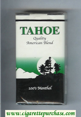 Tahoe Quality American Blend 100s Menthol cigarettes soft box