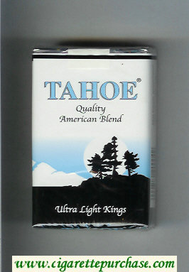 Tahoe Quality American Blend Ultra Light Kings cigarettes soft box