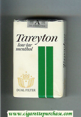 Tareyton Low Tar Menthol Dual Filter cigarettes soft box