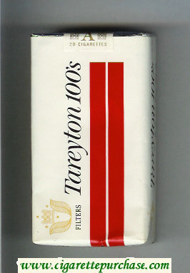Tareyton 100s Filters cigarettes soft box