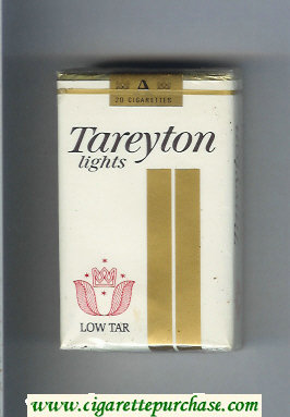 Tareyton Lights Low Tar cigarettes soft box
