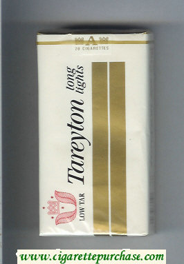 Tareyton 100s Lights Low Tar cigarettes soft box