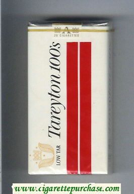 Tareyton 100s Low Tar cigarettes soft box