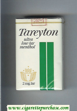Discount Tareyton Ultra Low Tar Menthol cigarettes soft box