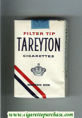 Tareyton Filter Tip cigarettes soft box