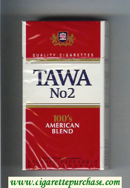 Tawa No 2 100s American Blend Quality cigarettes hard box