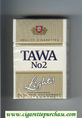 Tawa No 2 Lights Quality cigarettes hard box