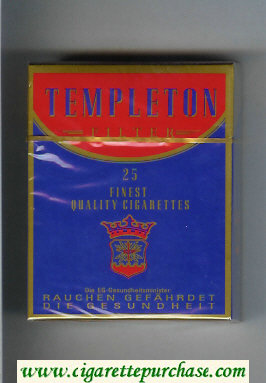 Templeton Filter 25 Finest Quality cigarettes hard box
