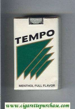 Tempo Menthol Full Flavor cigarettes soft box