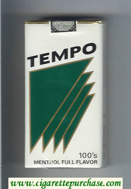 Tempo 100s Menthol Full Flavor cigarettes soft box