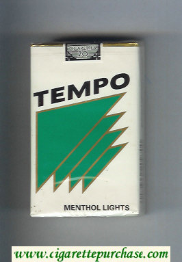Tempo Menthol Lights cigarettes soft box