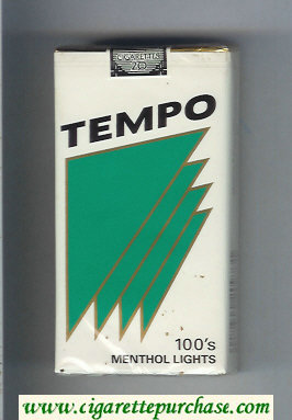 Tempo 100s Menthol Lights cigarettes soft box