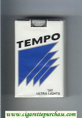 Tempo Ultra Lights cigarettes soft box