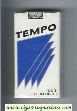 Tempo 100s Ultra Lights cigarettes soft box