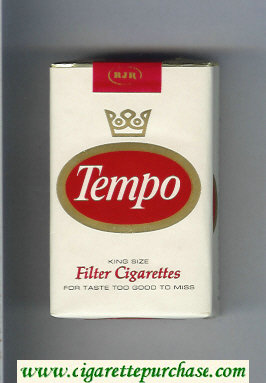 Tempo King Size Filter cigarettes soft box