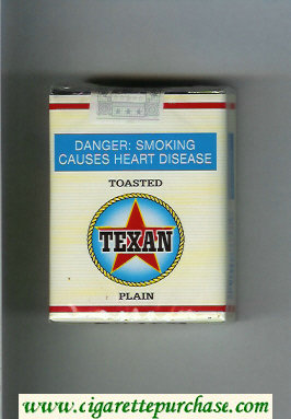 Texan Toasted Plain cigarettes soft box