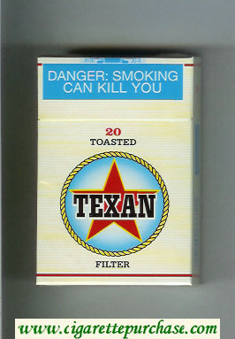 Texan 20 Toasted Filter cigarettes hard box